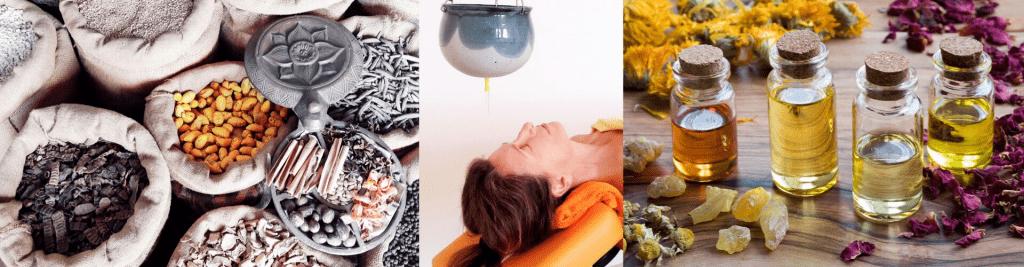 Shirodhara ayurvedischer Stirnölguss Wellness oder Medizin